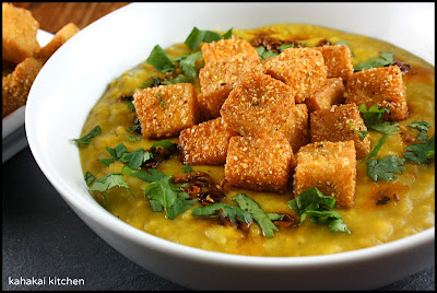 Kahakai Kitchen: Red Lentil Soup with Fried Tofu and Chilli Oil for ...