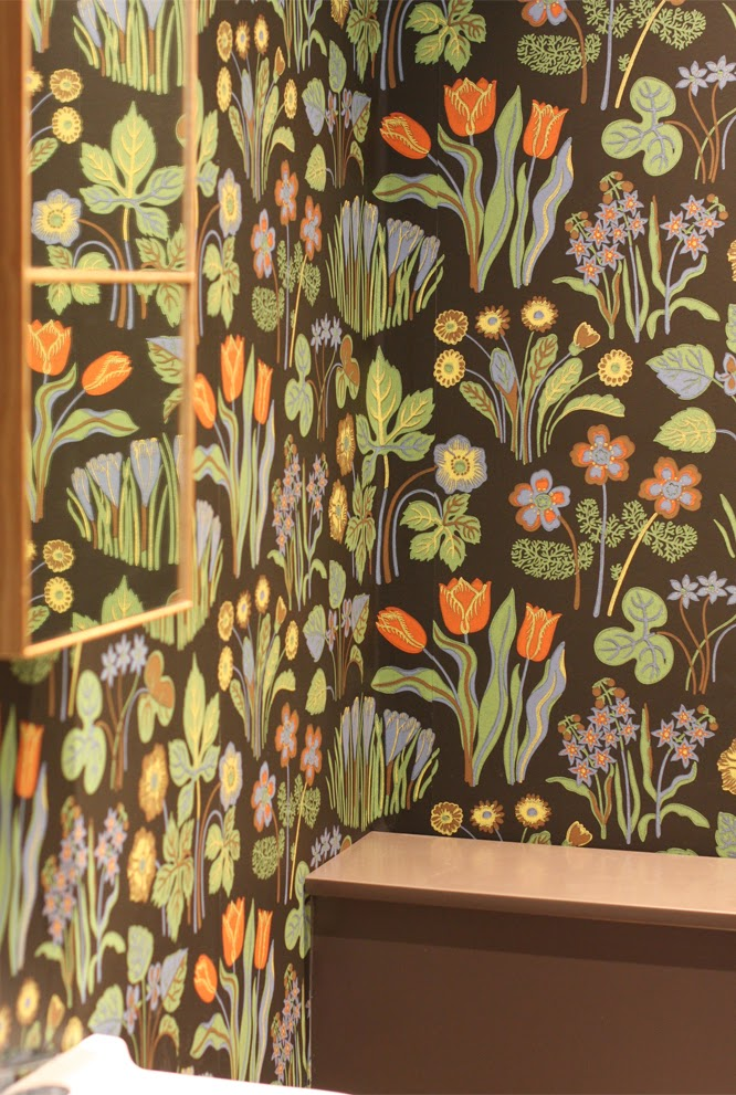 svensk tenn floral wallpaper in my downstairs cloakroom
