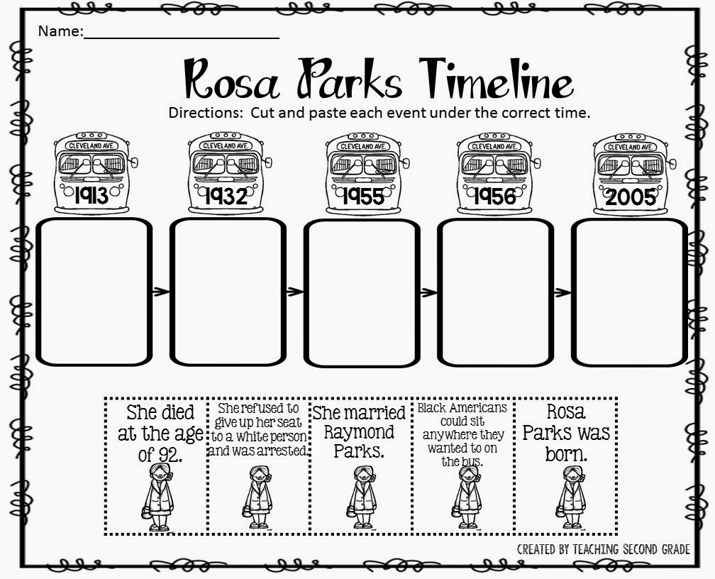 Rosa Parks Timeline Worksheet Furthermore Math Worksheets Houghton ...