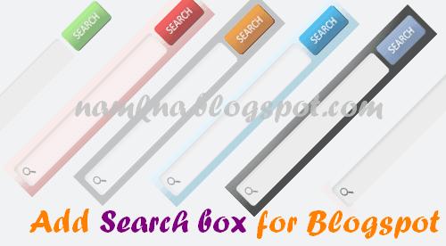 Một số style searchbox đẹp cho blog