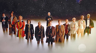 The many faces of The Doctor line up in Doctor Who: Day of the Doctor