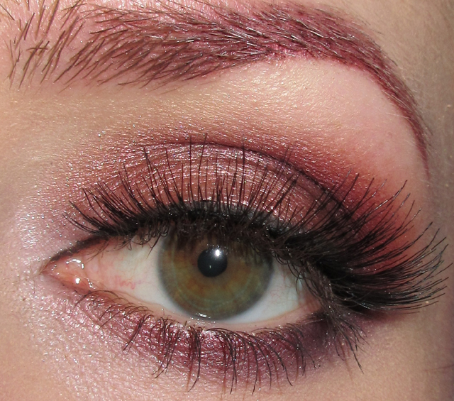 Glitter Is My Crack Peach Mauve And Plum Eye Makeup Look Wred Lips