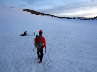 Entering the summit crater.