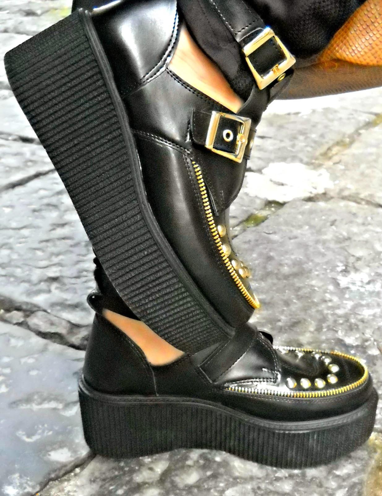This is my style by martina caruso outfit giocato sull 39 effetto ottico black and gold - Lia diva scarpe ...