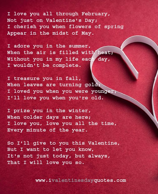 Gallery Valentines Day Poems For Her