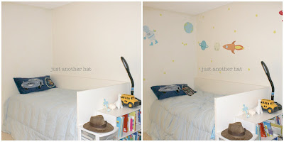 outer space theme vinyl wall decal