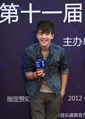 Greyson Chance press interview - Beijing China 2012