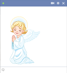 Praying Angel Icon for Facebook
