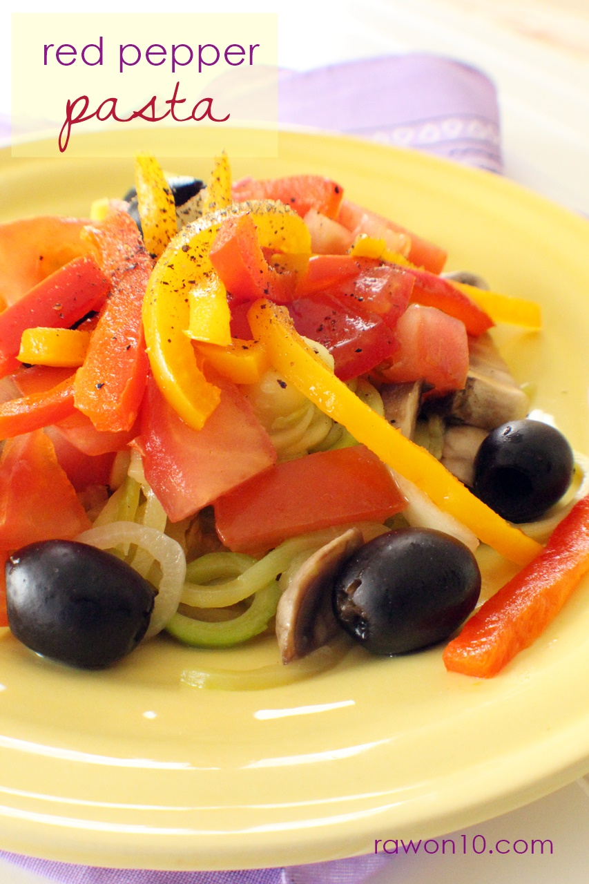 Raw on 10 a day or less red pepper pasta raw food recipe forumfinder Image collections