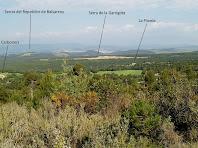 El Pla de Carboners i serres properes des de Sant Sadurní