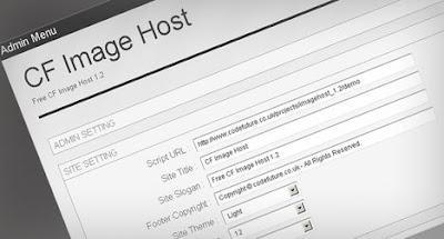 Image hosting free script