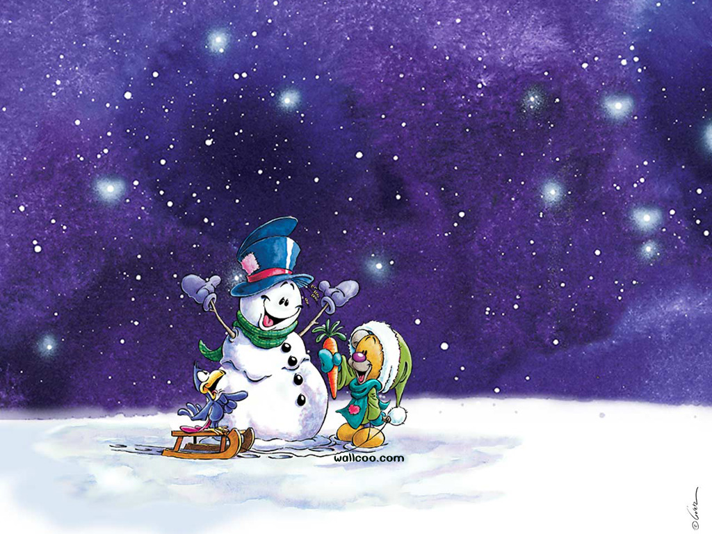 Animation Pictures Wallpapers Schneemann Wallpapers