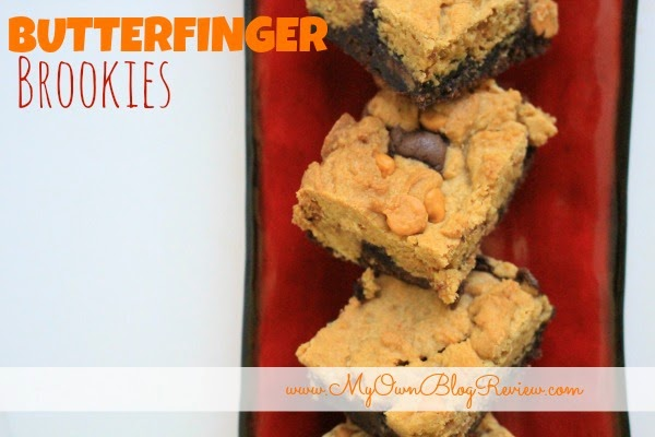 Butterfinger Brookies. Best brownies I have made in a long time!!! on www.MyOwnBlogReview.com