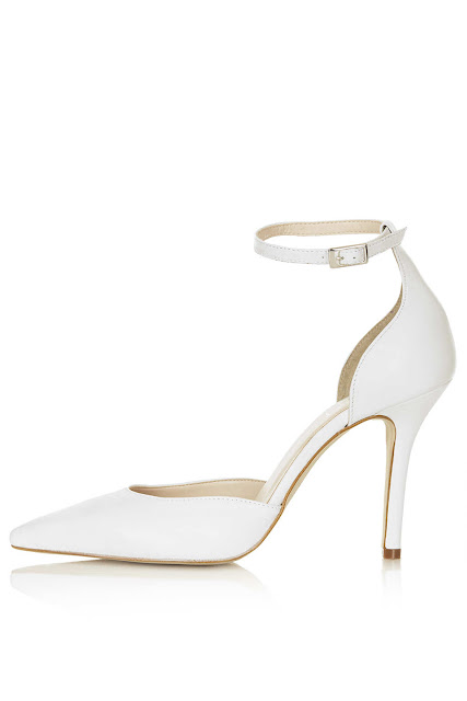 white ankle strap