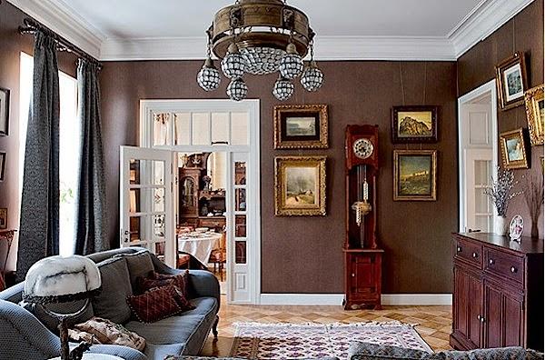 Design Interior ruang keluarga klasik modern