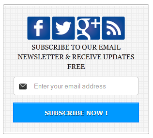 Blue Color Social Subscription Widget for Blogger Blog