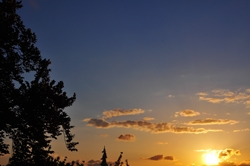Sonne im Westen...