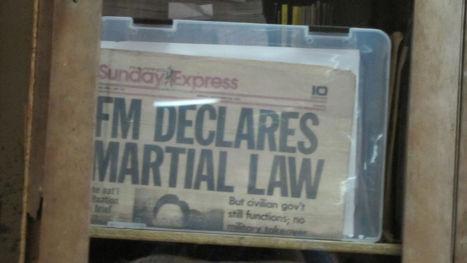 FTW! Blog, Hofileña Museum, Bacolod, #FTWtravels, Newspaper, Martial Law