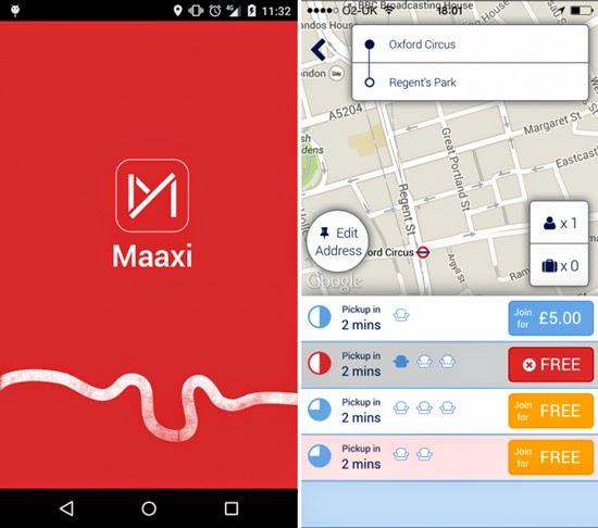 Maaxi Taxi App Ride Sharing London Taxi