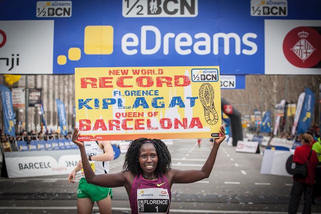 Récord de Florence Kiplagat en Mitja Marató BCN