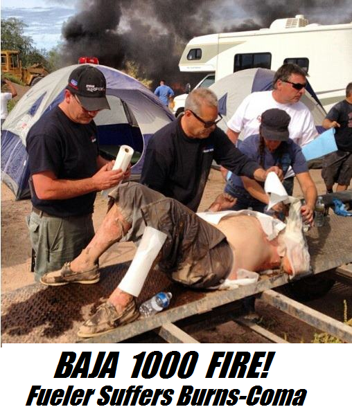 BAJA 1000 FIRE! EXCLUSIVE HERE