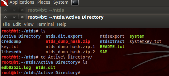how to find where ntds folder is