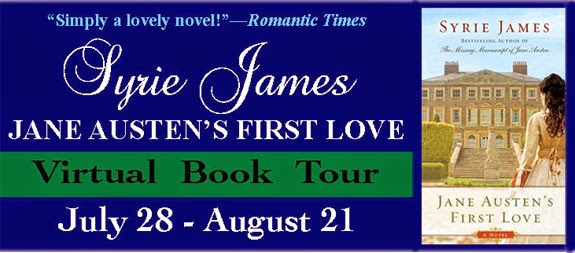 Jane Austen's First Love by Syrie James Virtual Book Tour