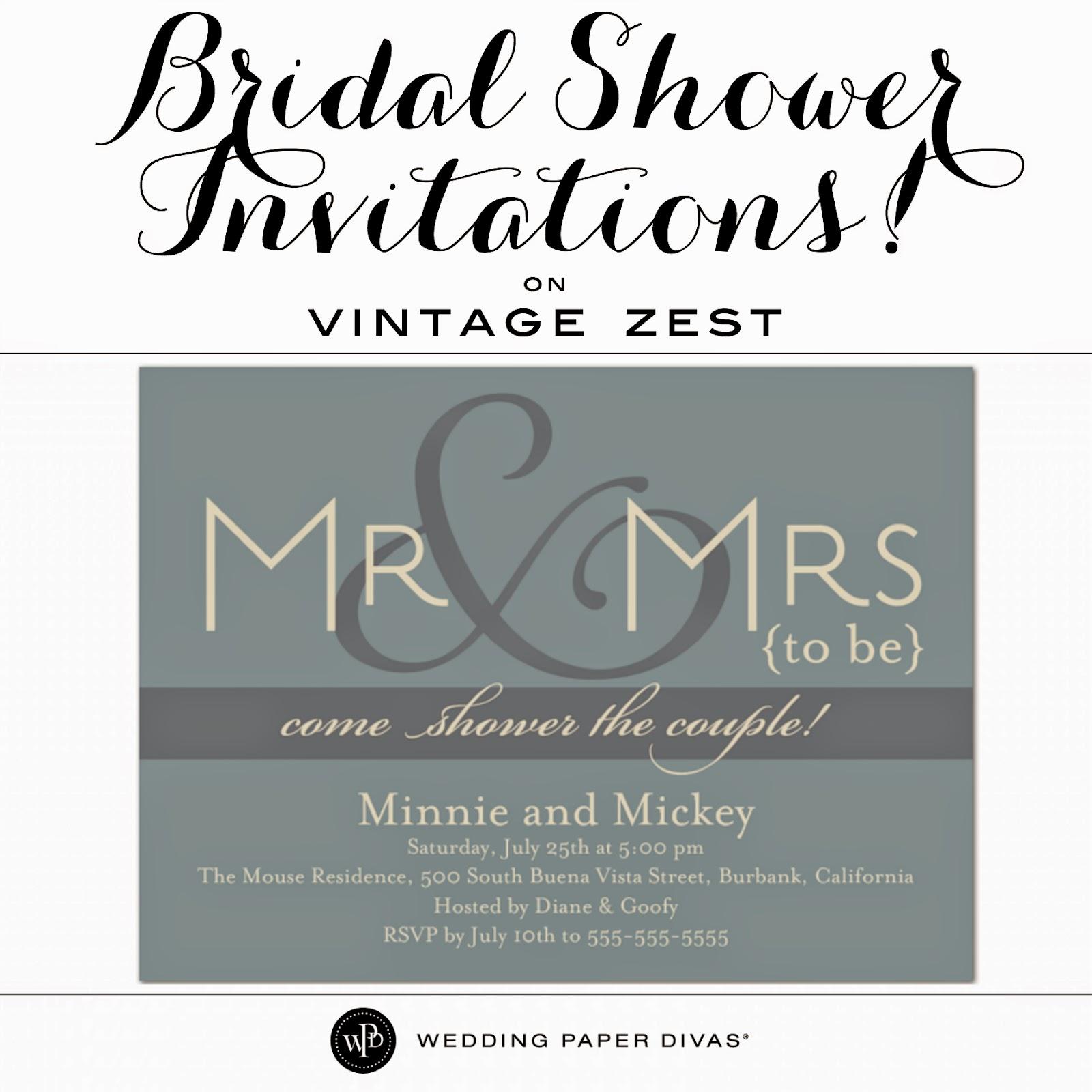 Bridal Shower Invitations with Wedding Paper Divas Dianes Vintage