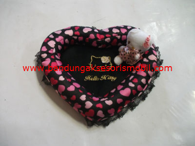 Segitiga Hp Hello Kitty New Colour Hitam Kombinasi Ungu