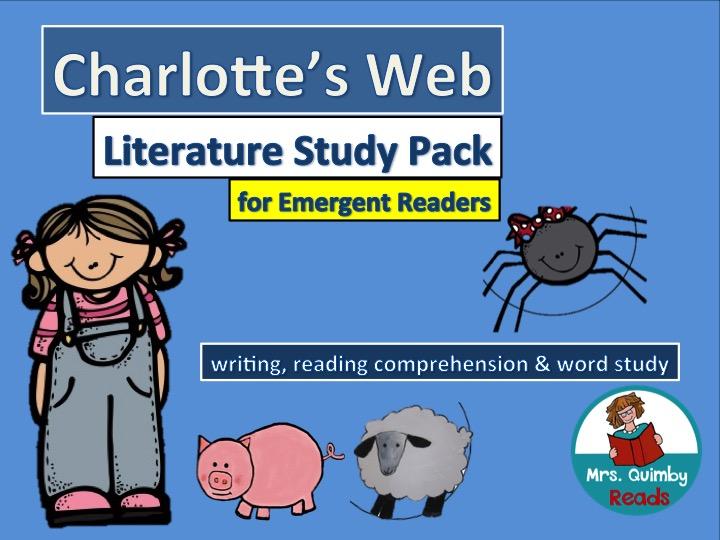 Charlotte's Web Study Pack for Grades K-1