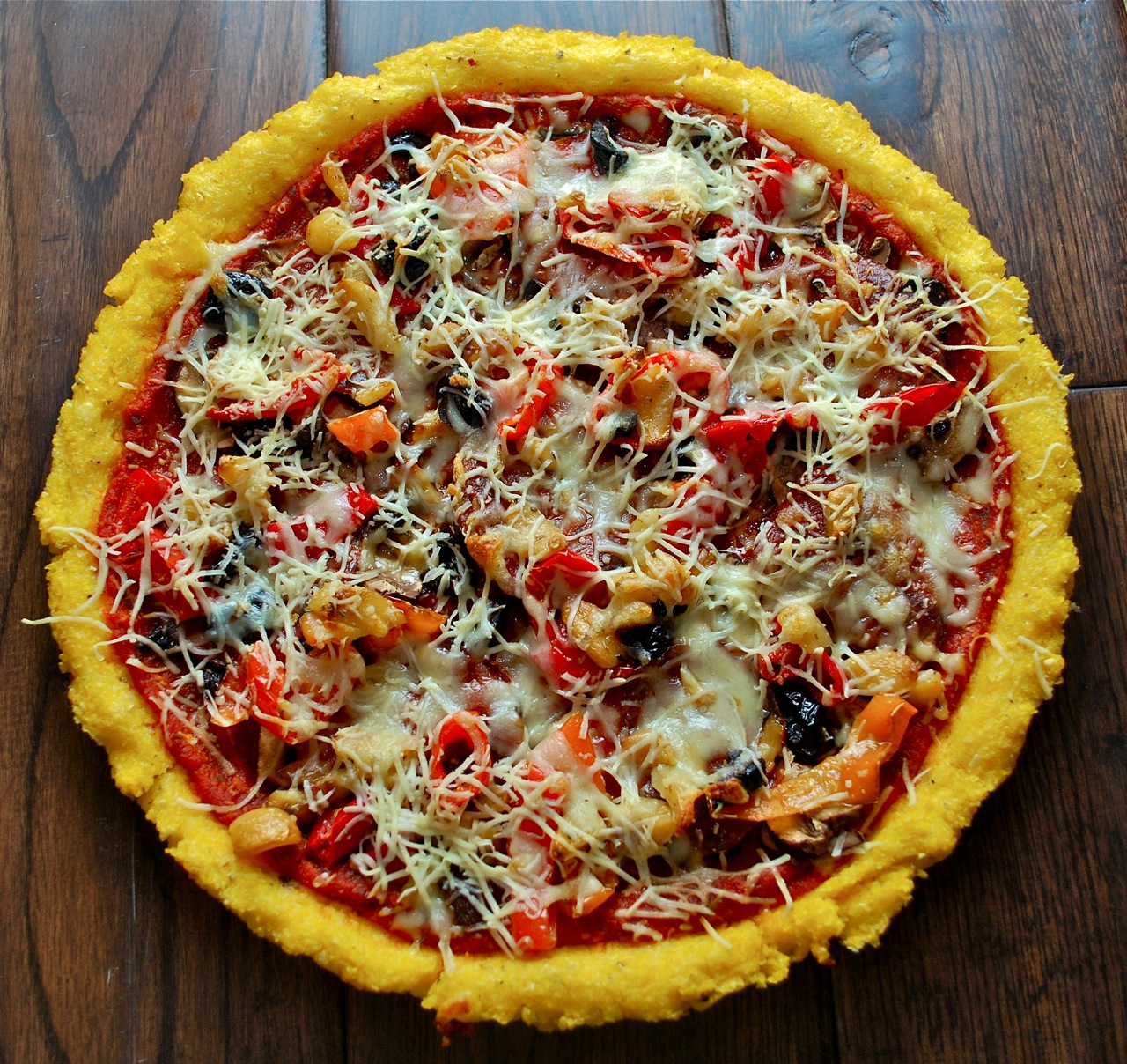 polenta pizza crust