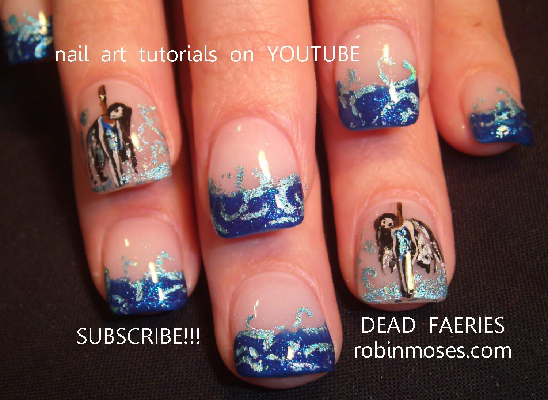 medusa nail, pumpkin nail, dead fairy nail, blue nail foil ...