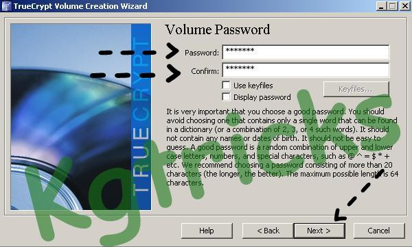 Set a Volume Password For Encrypted Drive