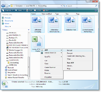 Advanced Encryption Package 2011 Pro v5.52