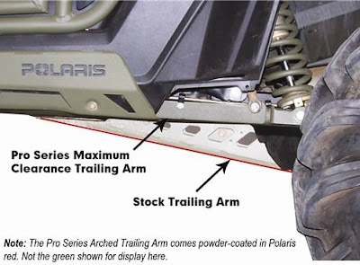 Max Clearance Trailing Arms for Polaris RZR XP
