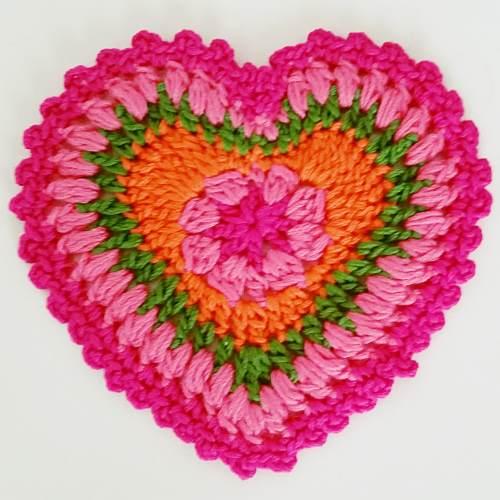 Como hacer corazones de crochet simple crochet tattoo - Como hacer flores de ganchillo ...