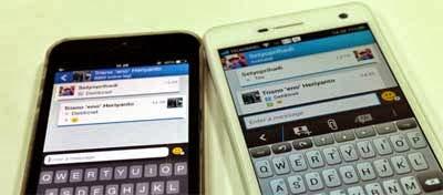 tampilan fitur BBM Android dan iOS
