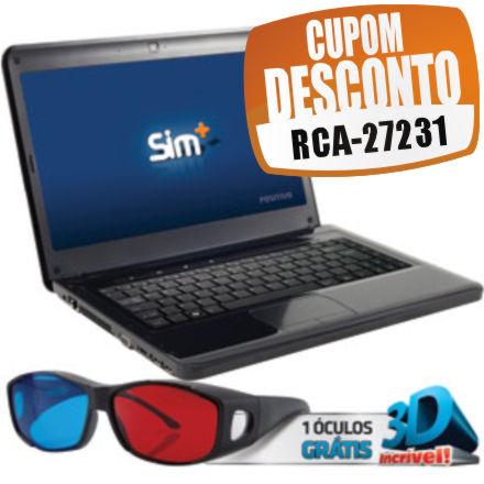 Cupom Efácil - Notebook 3D Intel Core I3 Sim Positivo