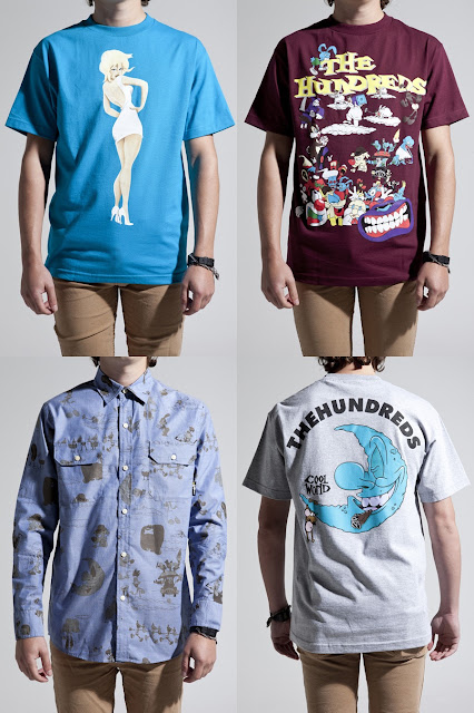 The Hundreds Cool World Collection - Basic Holli T-Shirt, Characters T-Shirt, Moon T-Shirt & Deebs Button Up Shirt