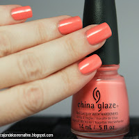 China Glaze Mimosa's before manis