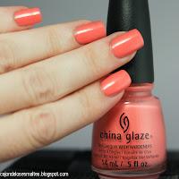 China Glaze Mimosa's before manis