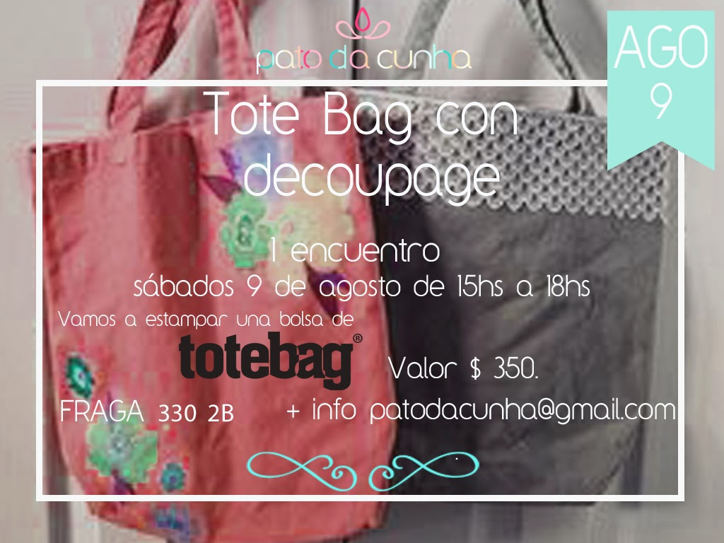 Taller Decoupage Totebag