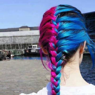 pelo de dos colores