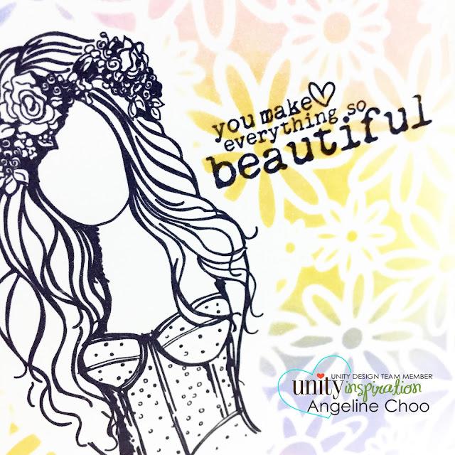 ScrappyScrappy: Multi-color stencil mask background #scrappyscrappy #unitystampco #card #timholtz #distressink #tcw #stencil #flowers