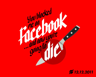 you blocked me on facebook and now you%2527re going to die desktop You blocked me on Facebook and now youre going to die t shirt