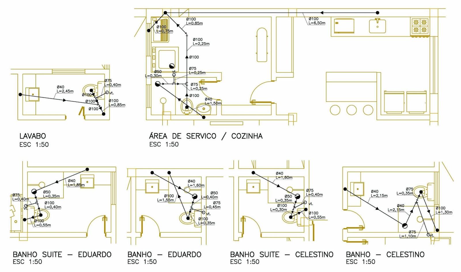 MARIANA PROJETISTA: AutoCAD #07: Perspectiva Isométrica #978534 1600x945 Banheiro Autocad 3d