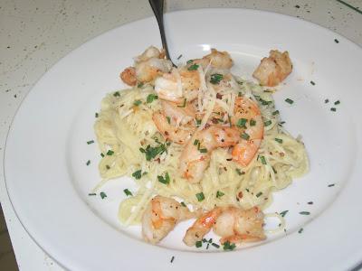 the errant cook shrimp and angel hair alfredo