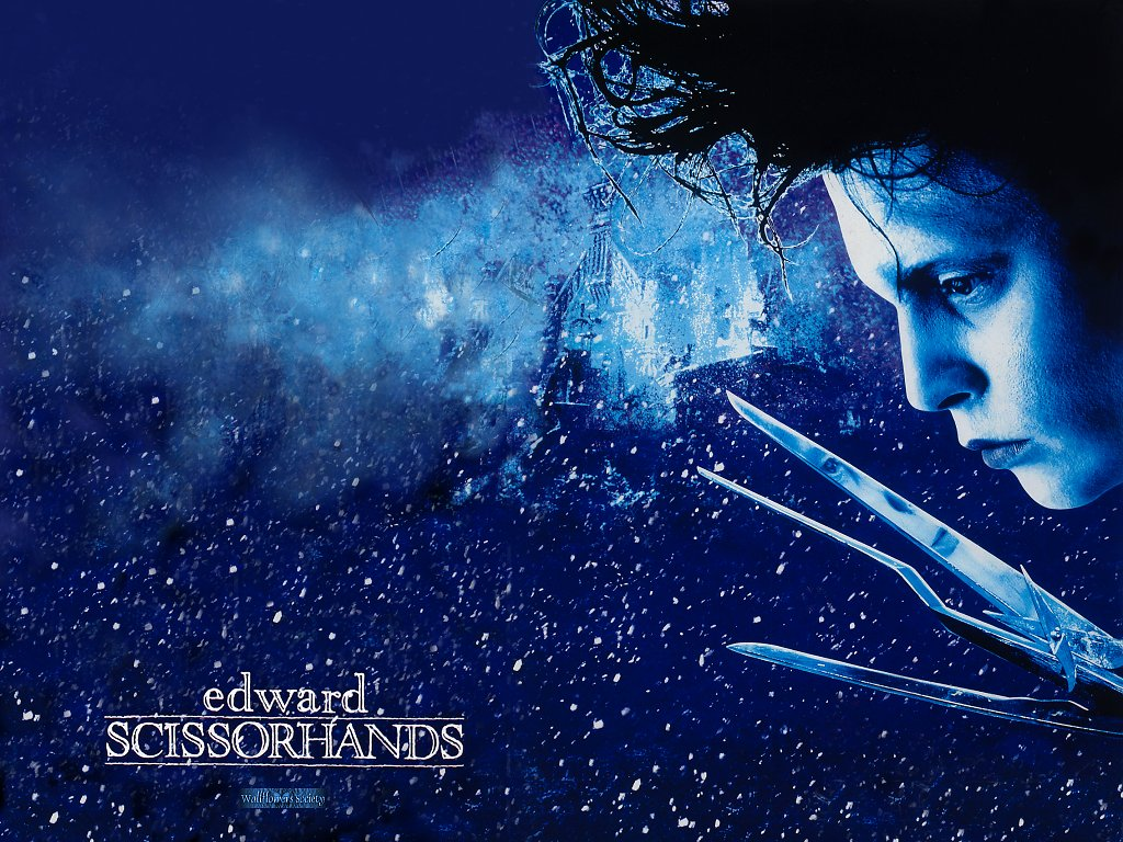 edward scissorhands  snow