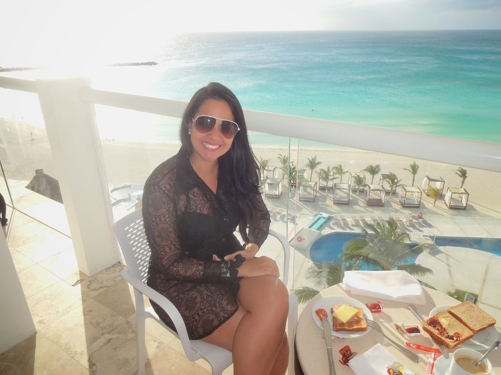 cafe-da-manha no resort em Cancun