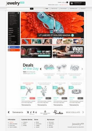 free download jewerly opencart template